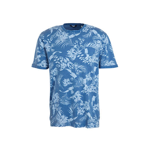 ONLY & SONS T-shirt met all over print blauw