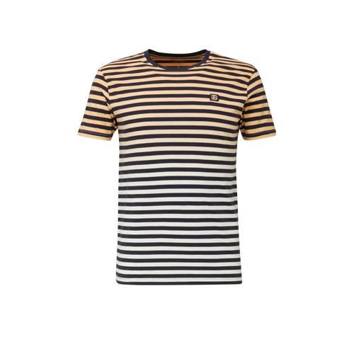ESPRIT Men Casual gestreept T-shirt zalm/marine