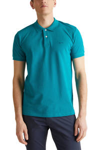 ESPRIT Men Casual slim fit polo turquoise, Turquoise