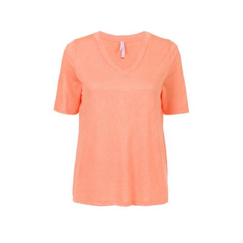 Miss Etam Regulier T-shirt zalm