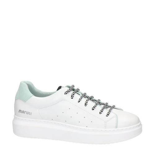 Maruti Cailin leren sneakers wit/mintgroen