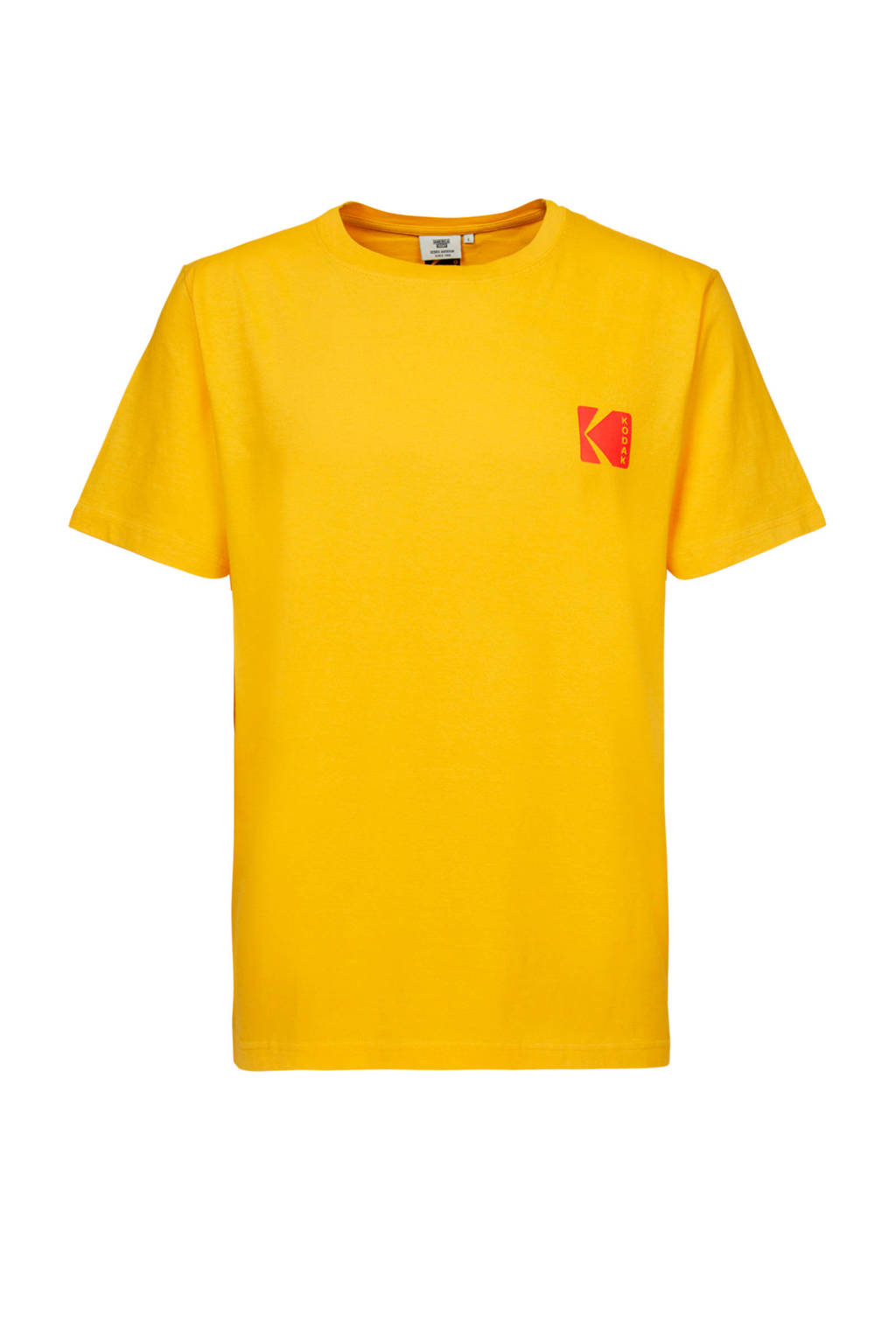 America Today T-shirt met printopdruk yellow, Yellow