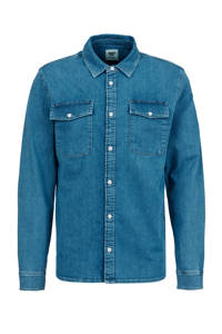 America Today slim fit denim overhemd vintage blue, Vintage blue