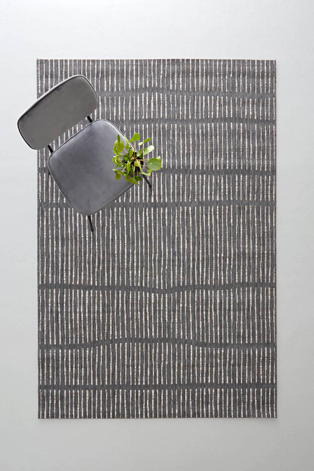 whkmp's own binnen- en buitenvloerkleed  (230x160), Antraciet/grijs