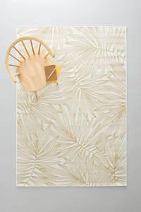 whkmp's own binnen- en buitenvloerkleed  (230x160), Wit/goud