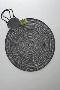 Wehkamp Home binnen- en buitenvloerkleed (Ø160 cm), Zwart/grijs