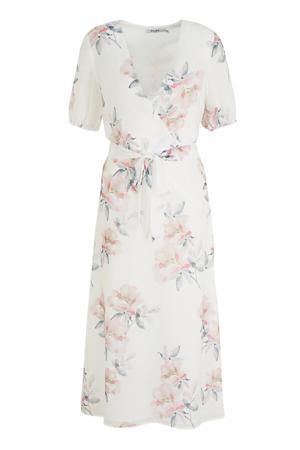 gebloemde maxi jurk wit