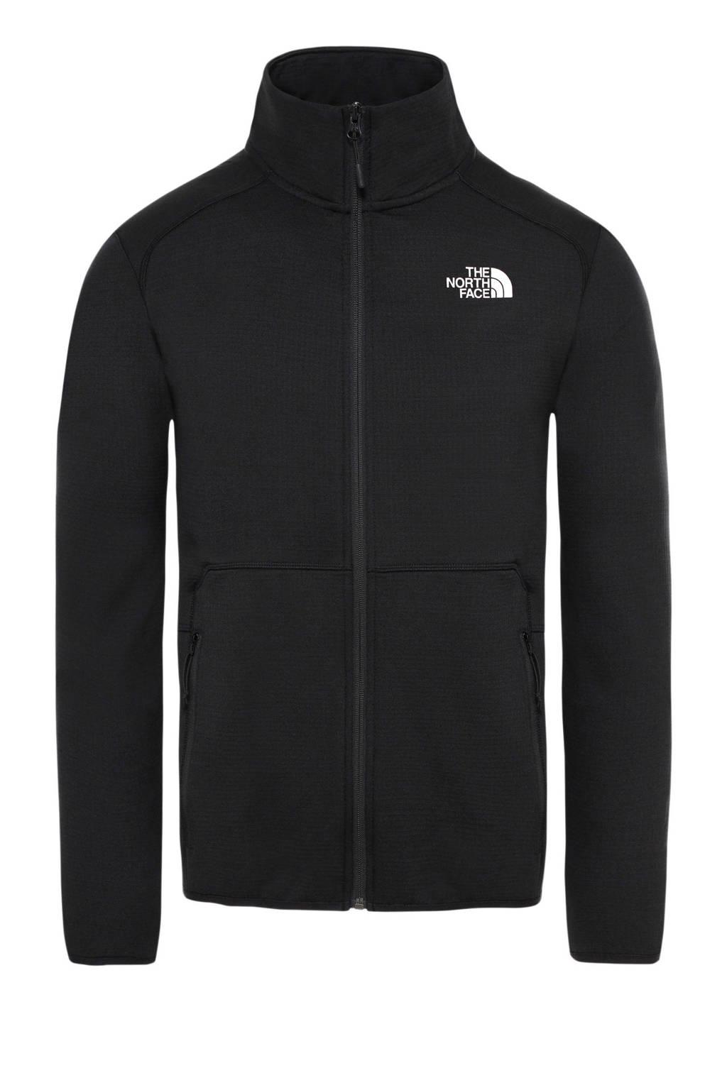The North Face fleece jack zwart, Zwart