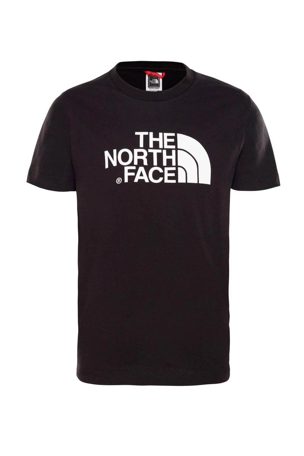 The North Face T-shirt Easy zwart/wit, Zwart/wit