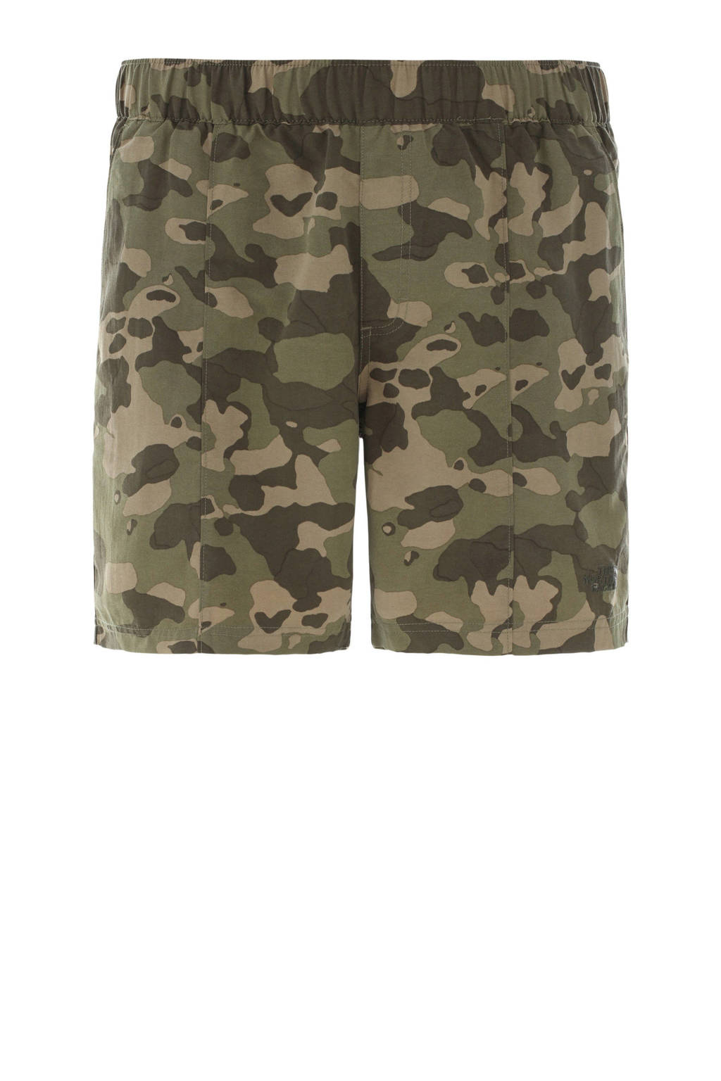 The North Face zwemshort camouflageprint, Groen/bruin