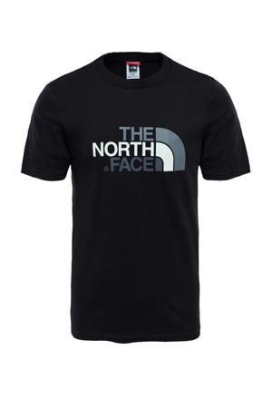 T-shirt zwart/grijs