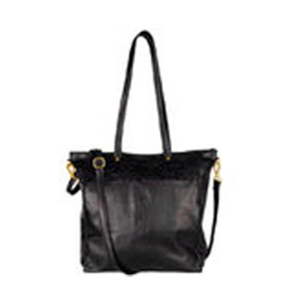 Chabo Bags  leren shopper Oasis Big zwart, Zwart