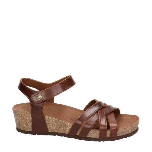 Panama Jack Chia Clay leren sandalen bruin