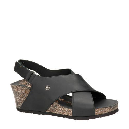 Panama Jack Valeska Basics nubuck sandalettes zwar