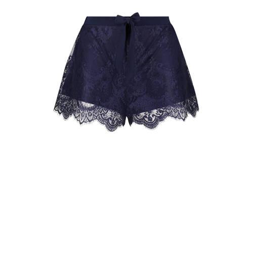 Hunkem??ller pyjamashort met kant donkerblauw