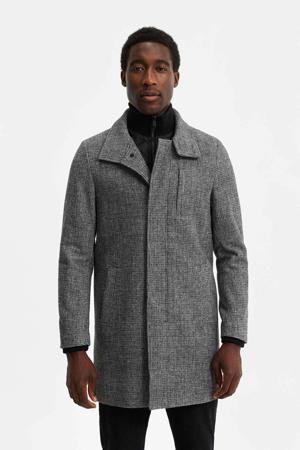 jas met wol grijs melange