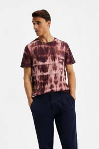 WE Fashion tie-dye T-shirt aubergine, Aubergine