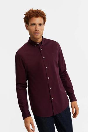 slim fit overhemd dark grape