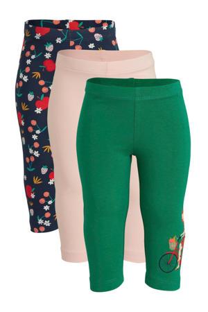 C&A Palomino legging - set van 3 lichtroze/groen/donkerblauw
