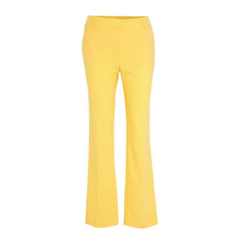 C&A flared pantalon geel