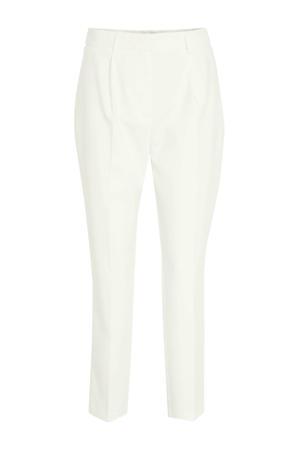 high waist tapered fit pantalon ecru