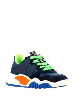 13433  sneakers blauw/groen