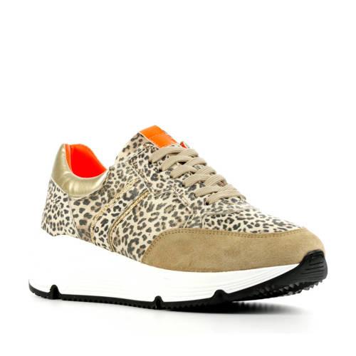 Hip D1907 su??de sneakers panterprint