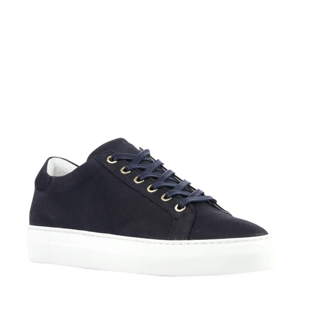 Nubikk Jagger Pure Fresh  nubuck sneakers blauw, Donkerblauw