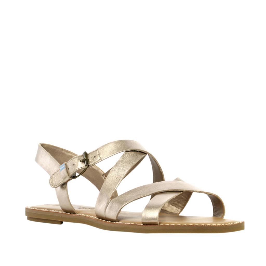 Toms Sicily  leren sandalen goud, Goud
