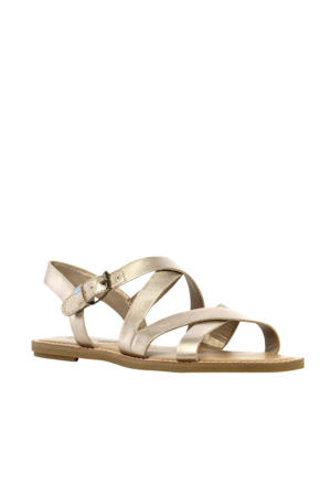 Sicily  leren sandalen goud