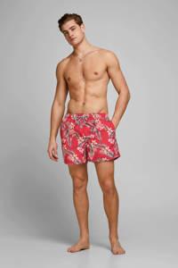 JACK & JONES JEANS INTELLIGENCE zwemshort Aruba met all over print fuchsia, Oranje