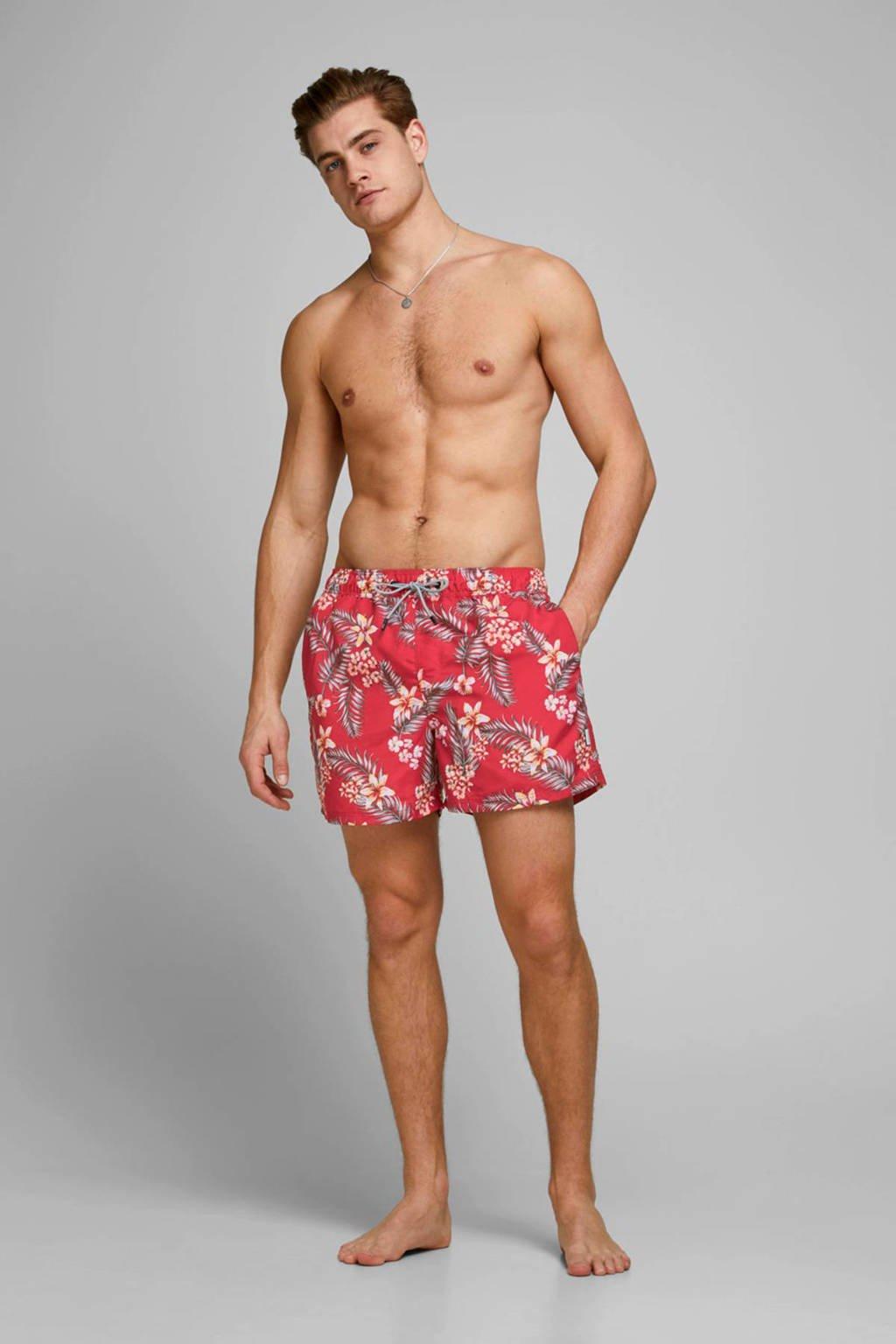 JACK & JONES JEANS INTELLIGENCE zwemshort JJIARUBA met all over print fuchsia, Oranje