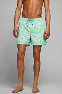 JACK & JONES JEANS INTELLIGENCE zwemshort Aruba met all over print lichtgroen, Lichtgroen