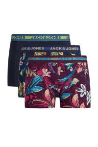 JACK & JONES boxershort (set van 3), Donkerblauw/bordeaux
