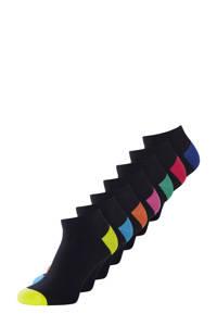 JACK & JONES sokken set van 7 paar zwart, Zwart/multi
