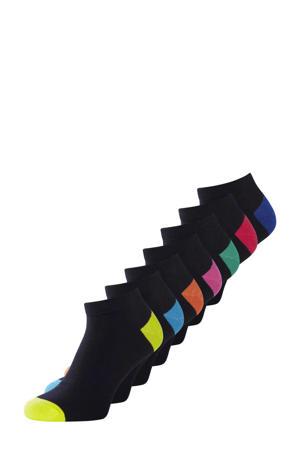 sokken set van 7 paar zwart
