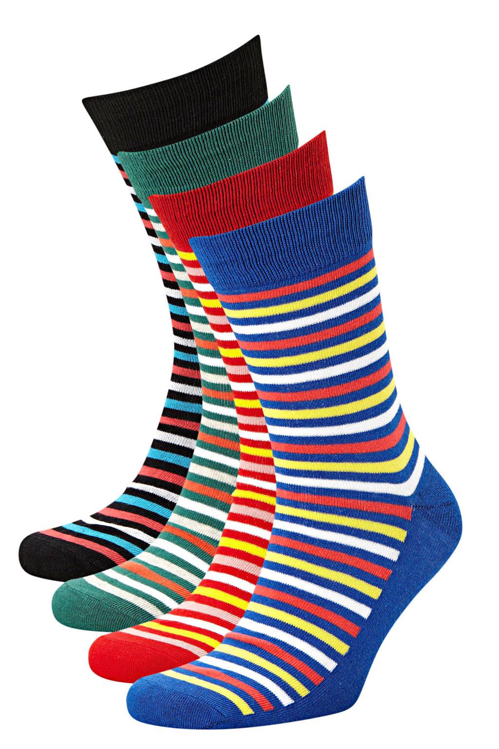 JACK & JONES sokken set van 4 paar multicolour, Multi