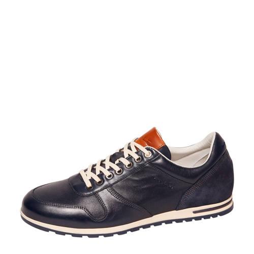 Van Lier 2017205 leren sneakers donkerblauw