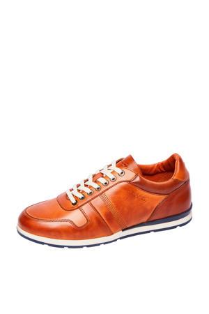 2013201  leren sneakers cognac