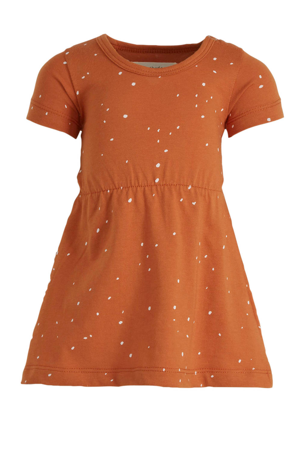 Little Indians T-shirtjurk Dots met all over print bruin, Bruin
