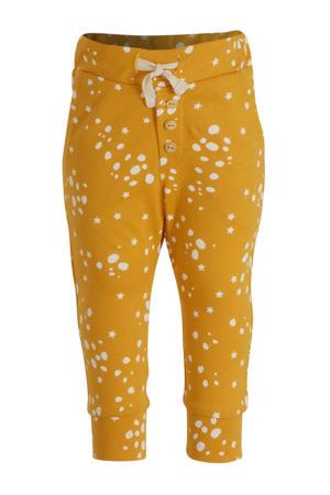 broek Pants Wild Stars met all over print okergeel
