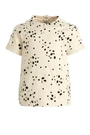 baby T-shirt T Shirt Wild Stars met all over print ecru/zwart