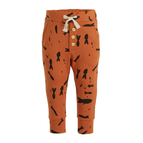 Little Indians regular fit broek Fish met all over