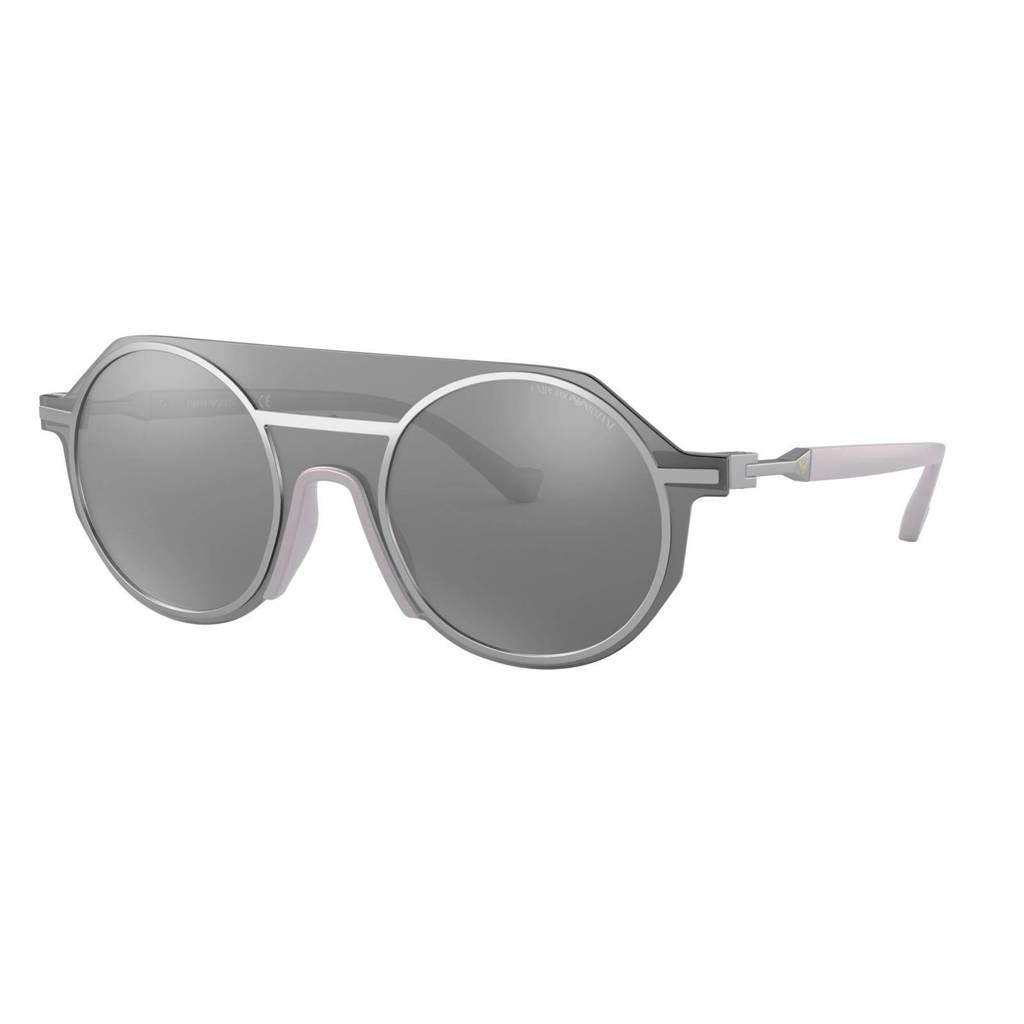 Emporio Armani zonnebril 0EA2102 30456G48 mat zilver, Mat Zilver