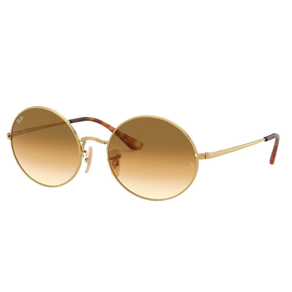 Ray-Ban zonnebril OVAL goud