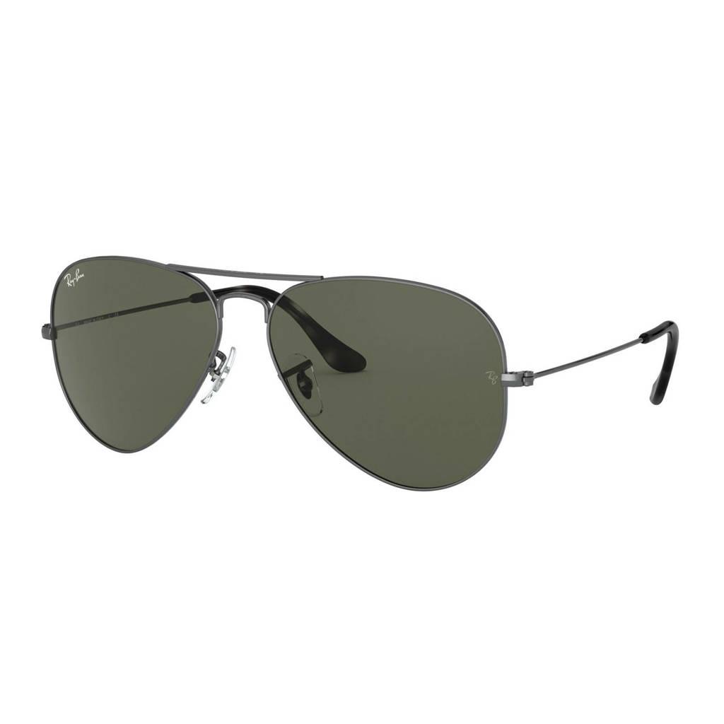 Ray-Ban zonnebril AVIATOR LARGE METAL grijs