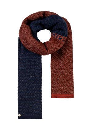 sjaal donkerblauw/rood