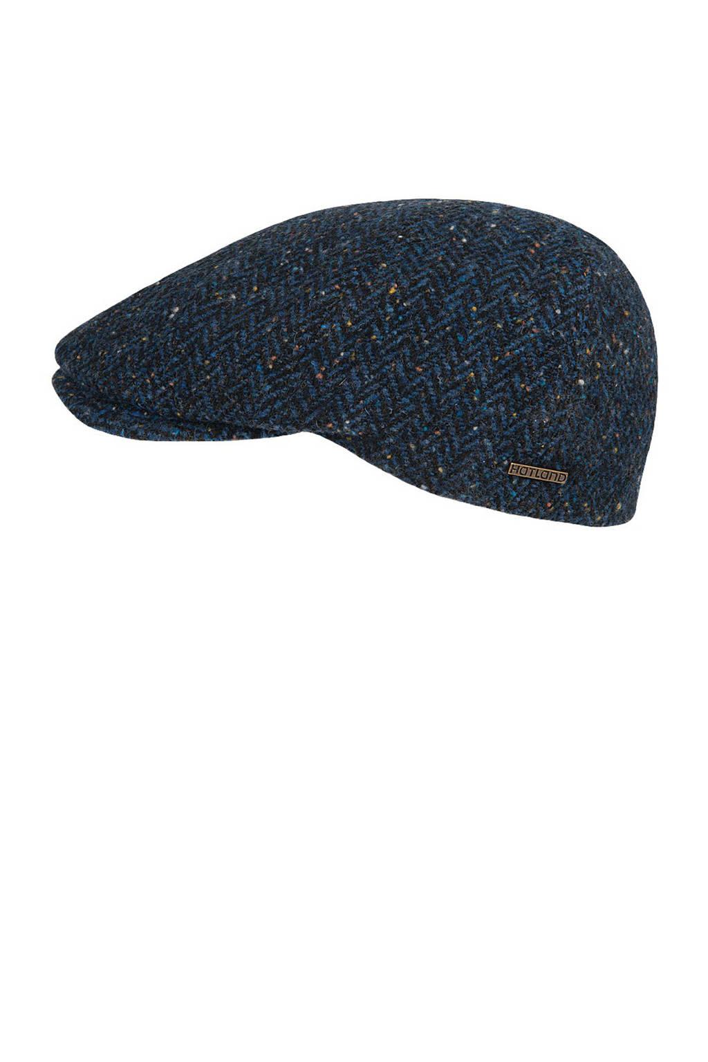 HATLAND flatcap Wales donkerblauw/grijs, Donkerblauw/grijs