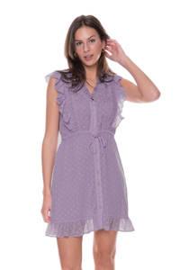 Colourful Rebel A-lijn jurk Celine met borduursels lila, Lila