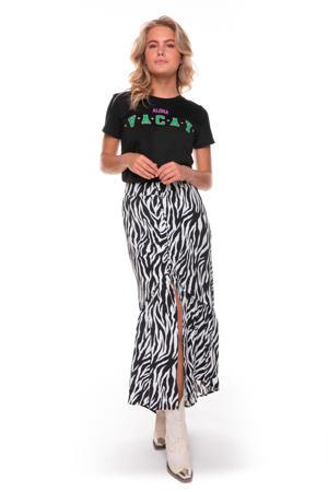 rok Rive met zebraprint zwart/ gebroken wit